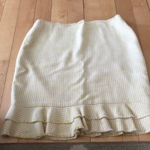 Ann Taylor cotton/rayon spring skirt in yellow